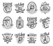 Vintage Gentleman Club Labels Set