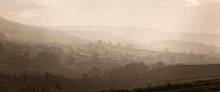 Misty Valley Near Skipton, Wes...