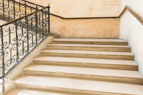 Foto op Plexiglas Trappen Marble staircase with stairs in luxury hall