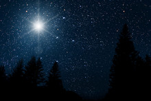 Star Indicates The Christmas Of Jesus Christ.