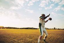 Football Quarterback Throwing ...