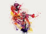 Abstrakcjonistyczna kobiety twarz. Moda grunge - 235638500