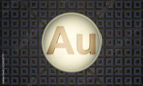 coin with symbol gold au Canvas Print