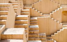 Panna Meena Ka Kund Step-well Landmark In Jaipur Or Pink City Rajasthan India
