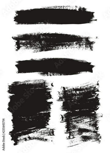 Fotografía  Calligraphy Paint Brush Background Mix High Detail Abstract Vector Background Se