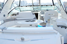Luxury Yacht Interior Cockpit Dashboard And Table