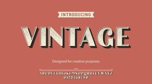 Vintage Typeface.For Labels And Different Type Designs