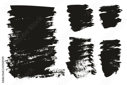 Fotografie, Obraz  Calligraphy Paint Brush Background Mix High Detail Abstract Vector Background Se
