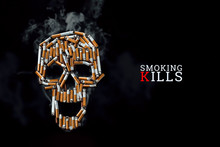 Skull From Cigarettes, Butts, ...