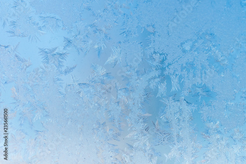Foto auf AluDibond Himmelblau Rime, frost, ice texture. ice pattern texture