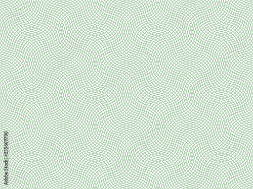 Vector certificate texture. Seamless geometric banknote pattern. Wallpaper Mural