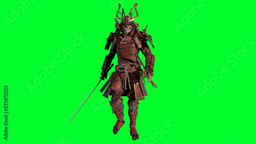 Photo  The Samurai Warrior 3d model render