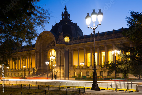 Night view of Petit Palais (Small Palace)