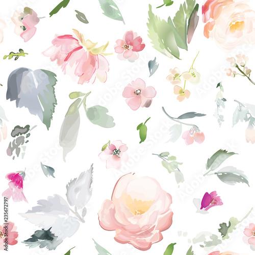 wektor-wzor-z-kwiatow-i-roslin-w-stylu-przypominajacym-akwarele
