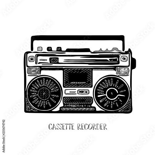 Fotografía  Vintage cassette recorder.