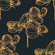 seamless floral pattern with wild flower