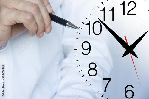 Cuadros en Lienzo mano, penna, tempo, orologio, scrivere, disegnare