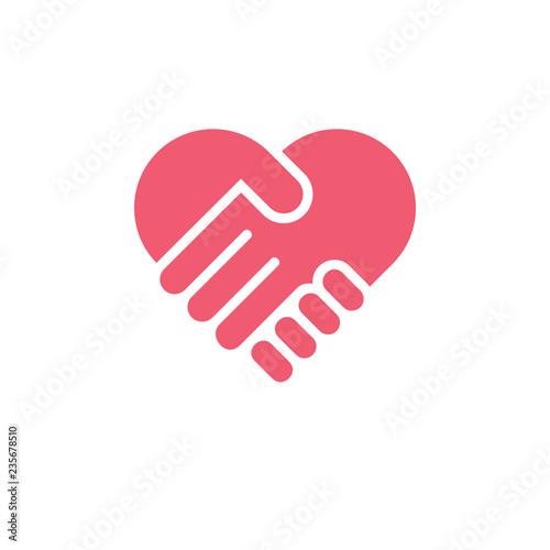 Fototapeta love hand care symbol logo vector obraz