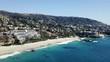 Laguna beach town southern California aerial landscape