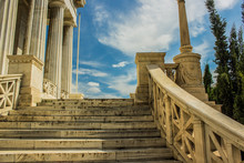 Marble Stairs In Classic Antique Palace Front Side Exterior Design