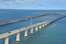 Looking At He Florida Keys From A Helicopter