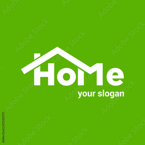 Home Vector Logo Template For Real Estate Company Illustration Of Roof Of House On Green Background Design Element Creative Idea For Logotype Eps10 Buy This Stock Vector And Explore Similar Vectors