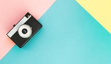 Flatlay Vintage Old Camera On ...