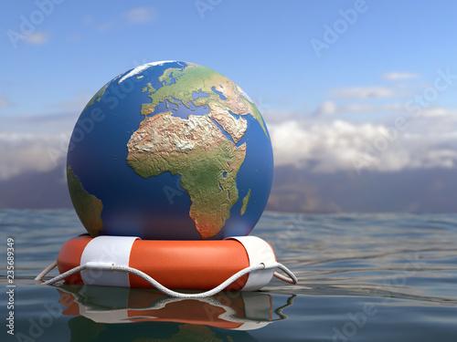 Fotomural Global Warming concept