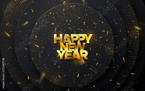 Obraz Happy New Year cover design - fototapety do salonu