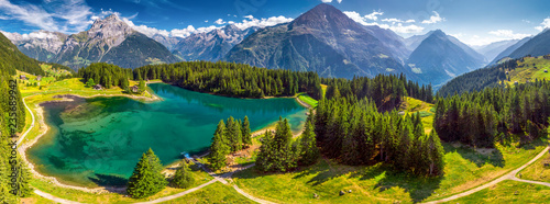 Canvas-taulu Arnisee with Swiss Alps
