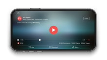 Mobile Video Player Vector UI ...