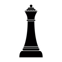 Silhouette Of A Queen Chess Pi...