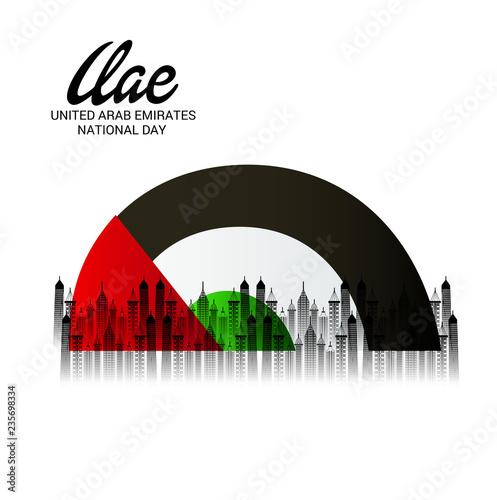 Fotografie, Obraz  UAE Independence Day. United Arab Emirates National Day.