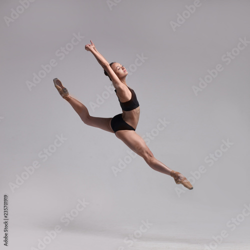 beautiful ballet dancer isolated Fototapete