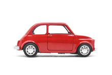 Red Retro Car Toy Model Isolat...