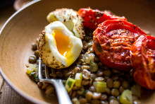 Close Up Of Roasted Tomatoes A...