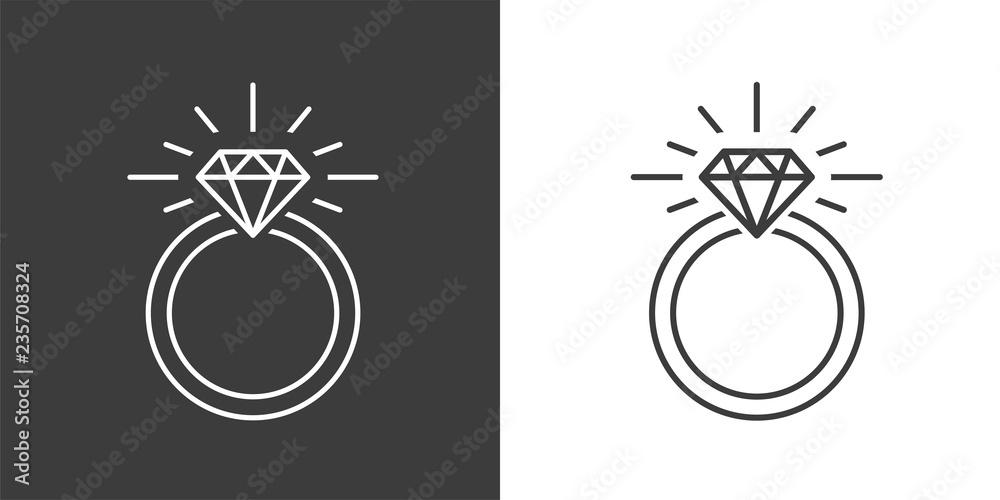 Fototapety, obrazy: Ring Diamond Engagement Ring
