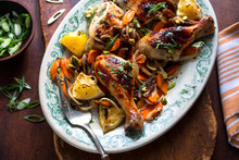 Close Up Of Roasted Chicken Wi...