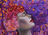 donna bella dipinto viola spa  bellezza rilassamento - 235709586