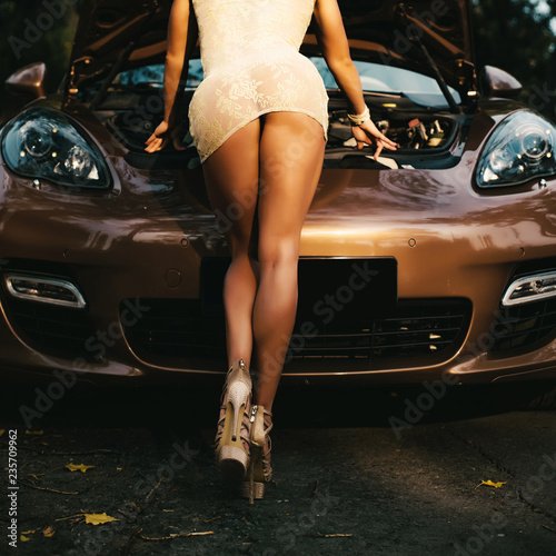 Motor suddenly conked out. Sport car service. Car repair. Car conked out on the way.