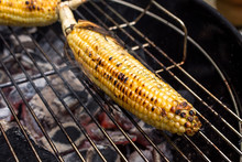 Close Up Of Corncob Grilling O...