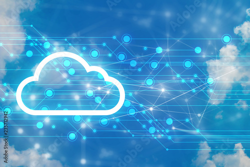 Obraz server data deep learning hologram ai technology robotic, futuristic cyber network, system of cloud storage, security and internet of things, online electric - fototapety do salonu