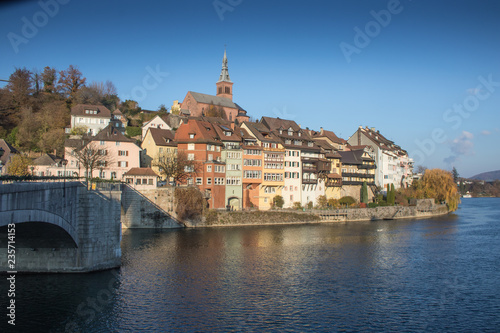 City view on the river bank of Laufenburg / Baden