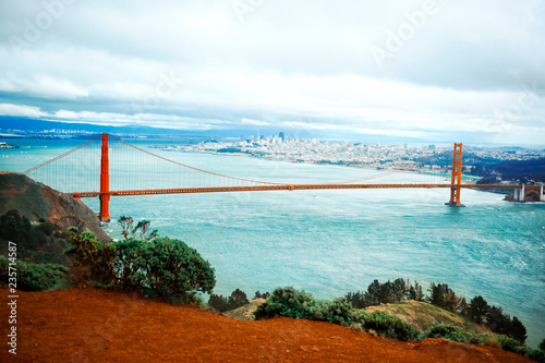 Fotografie, Obraz  view of golden gate bridge