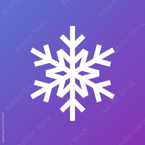 Fototapeta White snowflake on gradient background. Vector icon obraz na płótnie