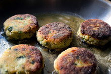 Close Up Of Spicy Fish Cakes I...
