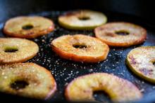 Close Up Of Sauteed Apple Slic...