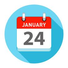January 24 Single Day Calendar Style