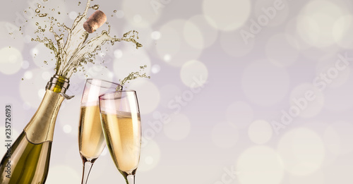 splashing champagne background