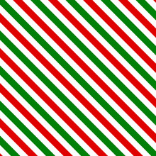 Red And Green Christmas Stripe...